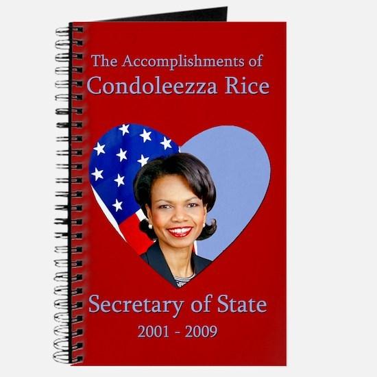 Accomplishments of Condoleezza Rice Blank Journal