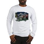 Alpine Chalet Long Sleeve Ash Grey T-Shirt