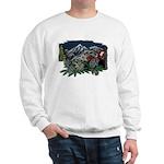 Alpine Chalet White Sweatshirt