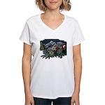 Alpine Chalet Women's V-Neck T-Shirt