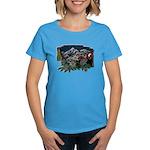 Alpine Chalet Women's Caribbean Blue T-Shirt