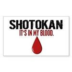 In My Blood (Shotokan) Rectangle Sticker