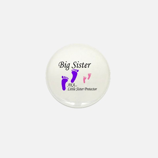 Cute Best big sister Mini Button