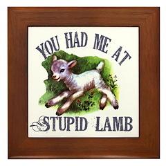 Twilight Stupid Lamb Framed Tile