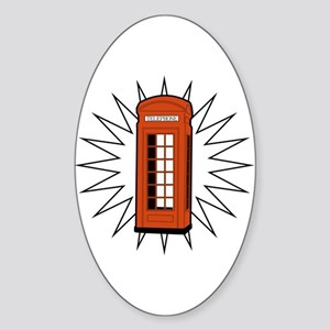 Telephone Box Oval Sticker