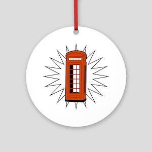 Telephone Box Ornament (Round)