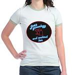 Joes Genealogy Bar Jr. Ringer T-Shirt