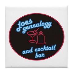 Joes Genealogy Bar Tile Coaster