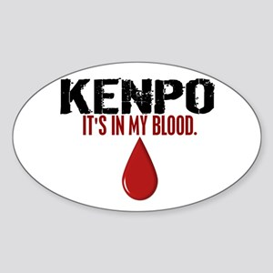 In My Blood (Kenpo) Oval Sticker