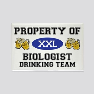 Property of Biologist Drinking Team Rectangle Magn