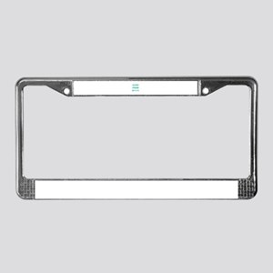Silence Is A True Friend License Plate Frame
