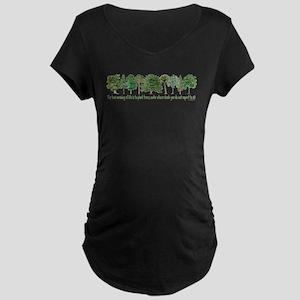 Plant a Tree Maternity Dark T-Shirt