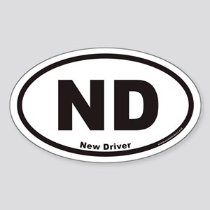 New Driver ND Euro Oval Sticker