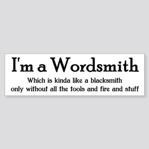 Wordsmith Bumper Sticker