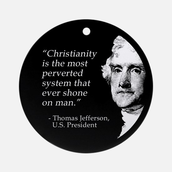 Jefferson Quote Ornament (Round)