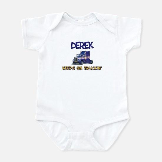 Derek Keeps on Truckin Infant Bodysuit