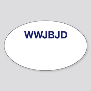 WWJBJD Oval Sticker
