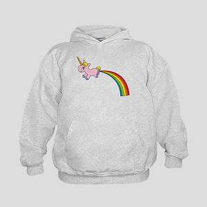 Unicorn Rainbow Poo Kids Hoodie