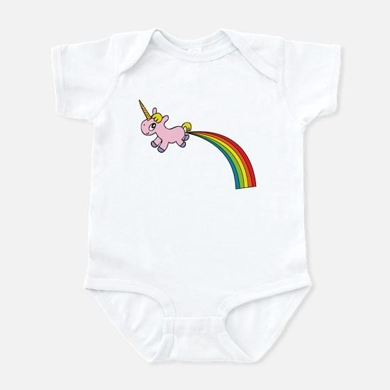Unicorn Rainbow Poo Infant Bodysuit