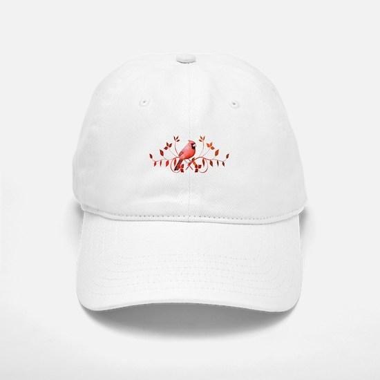 Graceful Cardinal Baseball Baseball Cap
