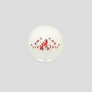 Graceful Cardinal Mini Button