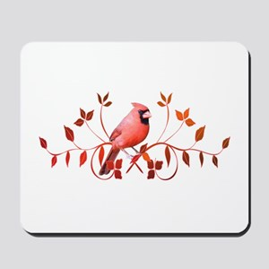 Graceful Cardinal Mousepad