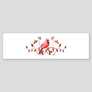 Graceful Cardinal Bumper Sticker