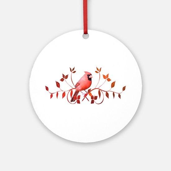 Graceful Cardinal Ornament (Round)