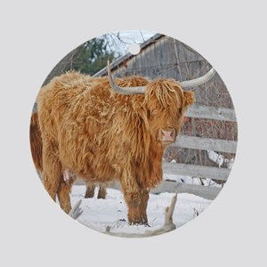 Highland Cattle Ornament (Round)