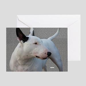 Bull Terrier Profile Greeting Card
