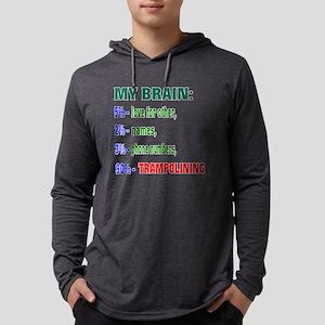 My Brain, 90% Trampolining Mens Hooded Shirt