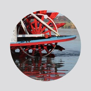 Paddle Wheel Boat Ornament (Round)