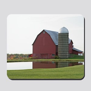 Barn At The Pond Mousepad