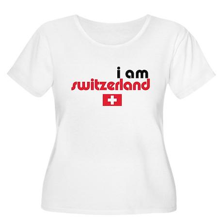 I Am Switzerland Women's Plus Size Scoop Neck T-Sh