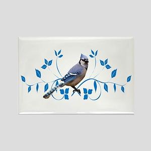 Regal Blue Jay Rectangle Magnet