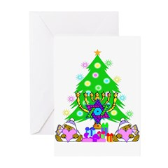 Christmas and Hanukkah Greeting Cards (Pk of 10)