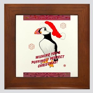 Puffingly Perfect Christmas! Framed Tile
