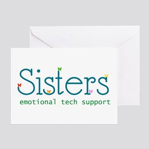 Emotional tech support greeting cards cafepress sisters greeting card m4hsunfo