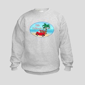 Hawaiian Christmas Santa Kids Sweatshirt