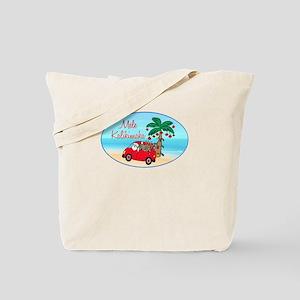 Hawaiian Christmas Santa Tote Bag