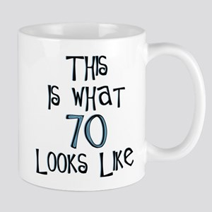 70th birthday, 70 looks like this Mug