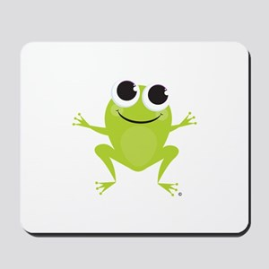 "Cute Frog & ""Think Green"" Mousepad"