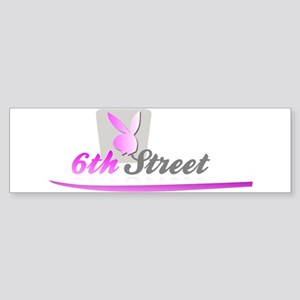 6th Street Bunny Bumper Sticker