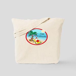 Hawaiian Christmas Lazy Santa Tote Bag
