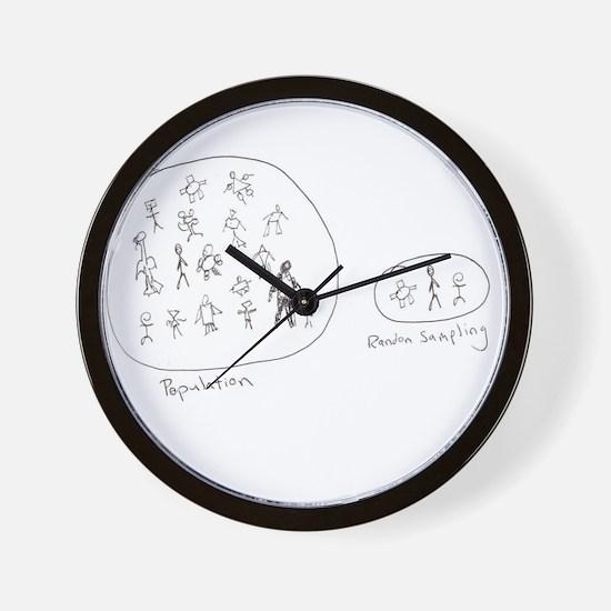 Random Sampling Wall Clock