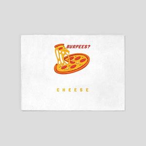 Burpees Pizza 5'x7'Area Rug