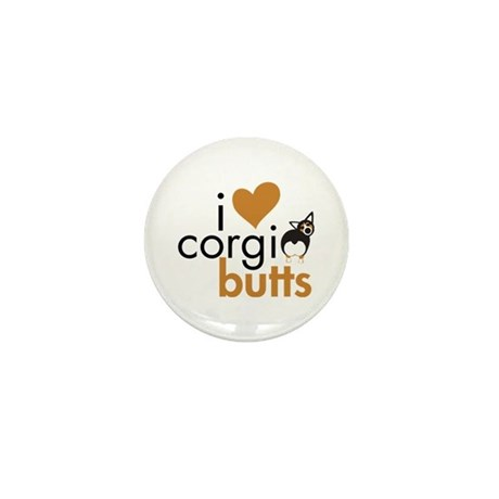 I Heart Corgi Butts - BHT Mini Button