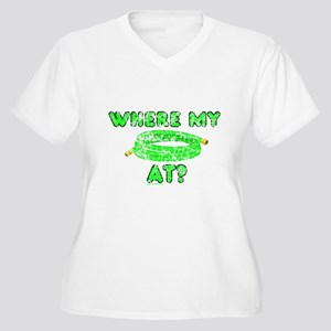Where my *hose* at? Women's Plus Size V-Neck T-Shi