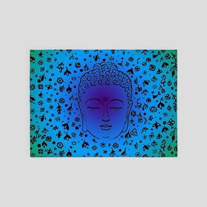 Buddha Blue 5'x7'Area Rug