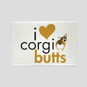 I Heart Corgi Butts - Sable Rectangle Magnet